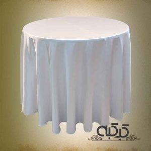 اجاره میز گرد با رومیزی سفید - کرایه میزگرد - اجاره میز مراسم مجالس شام